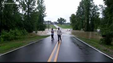 Many Roads in Raleigh Area Impassable Due to Floodwaters