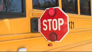 Unbuckled School Bus Driver Falls out of Seat, Crashes into Brick Wall