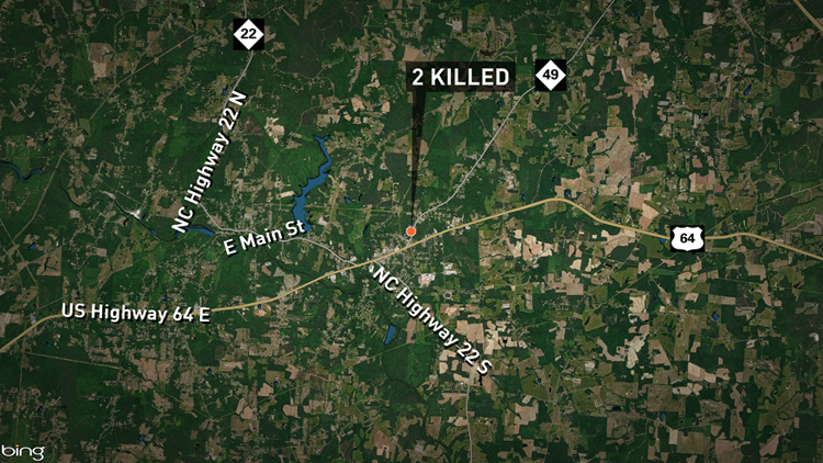 A residential fire killed two people early Friday morning in Ramseur, fire crews said.