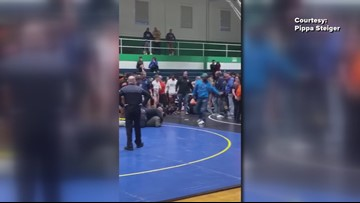 Father talks to local radio station about moment son was tackled by parent at a wrestling match