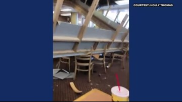 RAW: Ceiling collapse at Greensboro Bojangles restaurant
