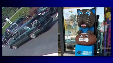 Surveillance Photo Shows Car Taking off With Stolen Sir Purr Totem Pole in the Trunk