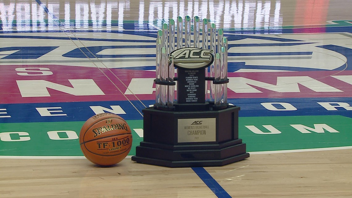 RAW: Up close with ACC Tournament trophy!