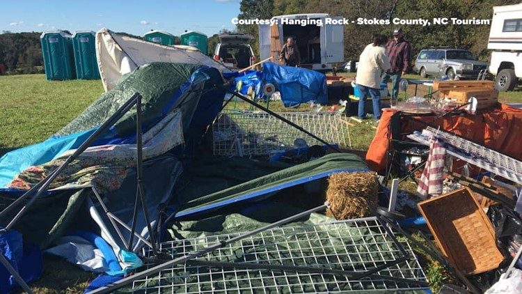 MPH Winds Cause Day Of Jomeokee Market Near Pilot Mountain To - Pilot mountain car show 2018
