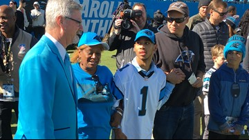 Panthers Welcome Chancellor Lee Adams, Son Of Rae Carruth, As Special Guest