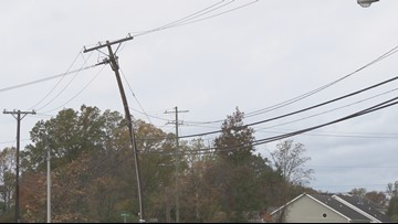 See a Power or Utility Pole Leaning Over