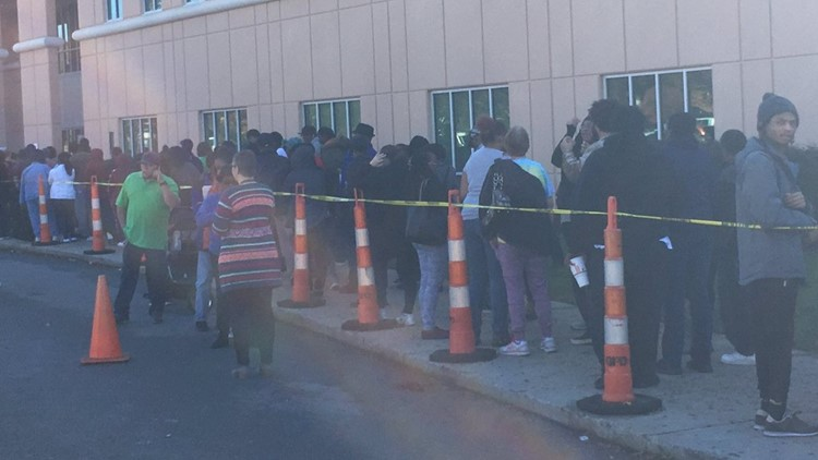 PHOTOS | Lines Form In Guilford County For Food Assistance After Florence