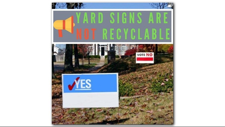 Properly Dispose Of Your Yard Signs