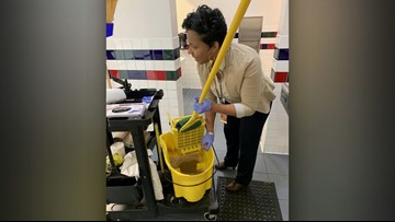 Principal Steps Up to Clean School During Custodian's Emergency in Texas