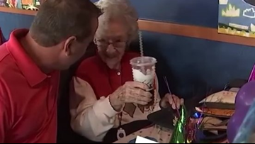 106-Year-Old Woman Celebrates Her Birthday At Taco Bell