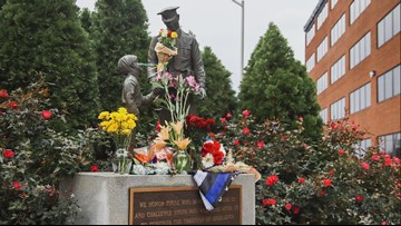 Memorial For Fallen Greensboro Police Officer Continues To Grow