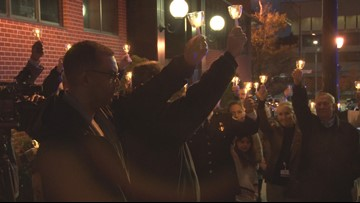 Community Comes Out For Candlelight Vigil For Fallen Greensboro Police Officer