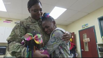 Home for the Holidays: Military Mom Surprises Daughters at School