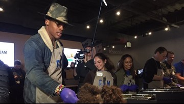 Cam Newton's Thanksgiving Jam Feeds Largest Group of Kids Ever
