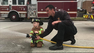 Firefighters Surprise 3-Year-Old For Birthday After Dad Dies Of Cancer