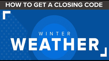 SNOW CLOSINGS | How To Get A 'Snow Code,' How To Use It