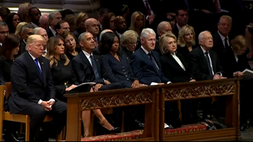 Trump, Former Presidents Together at George H.W. Bush State Funeral