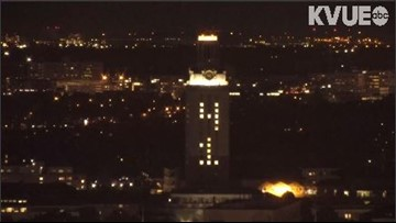 Tower At University Of Texas In Austin Lights Up With No. 41 Wednesday In Honor Of Bush