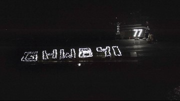 Crew Aboard USS George H.W. Bush Spells Out 'GHWB 41' With Flashlights