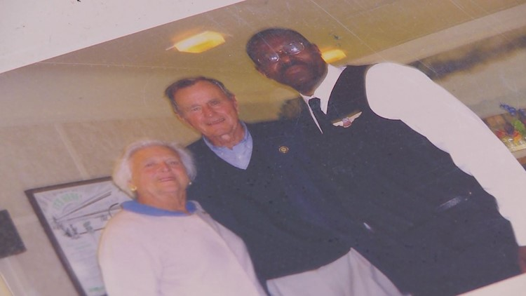 Former Union Pacific Railroad Attendant Remembers Time With Bush 41