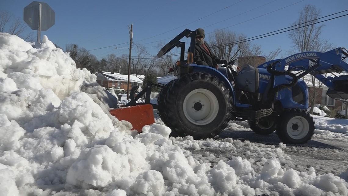 Randolph Co. Man Brings Tractor To Plow Greensboro Neighborhoods