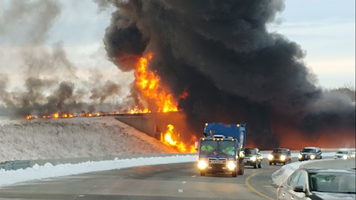 Fiery Tanker Crash Clean Up Limits Access to I-73 Southbound