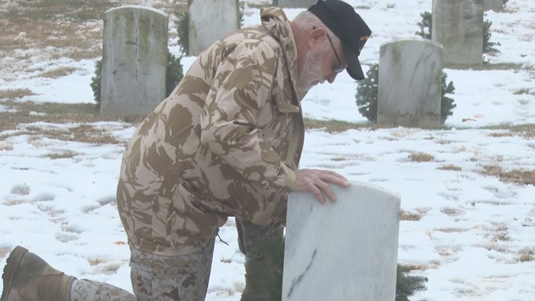 1,100 Wreaths Placed on Veterans' Graves in Greensboro