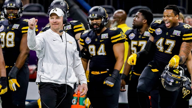 3393dc11 Appalachian State Rolls Past Middle Tennessee 45-13 in New Orleans ...