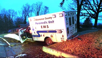1 Sent To Hospital After Alamance Co. EMS Driver Falls Asleep At Wheel: Police