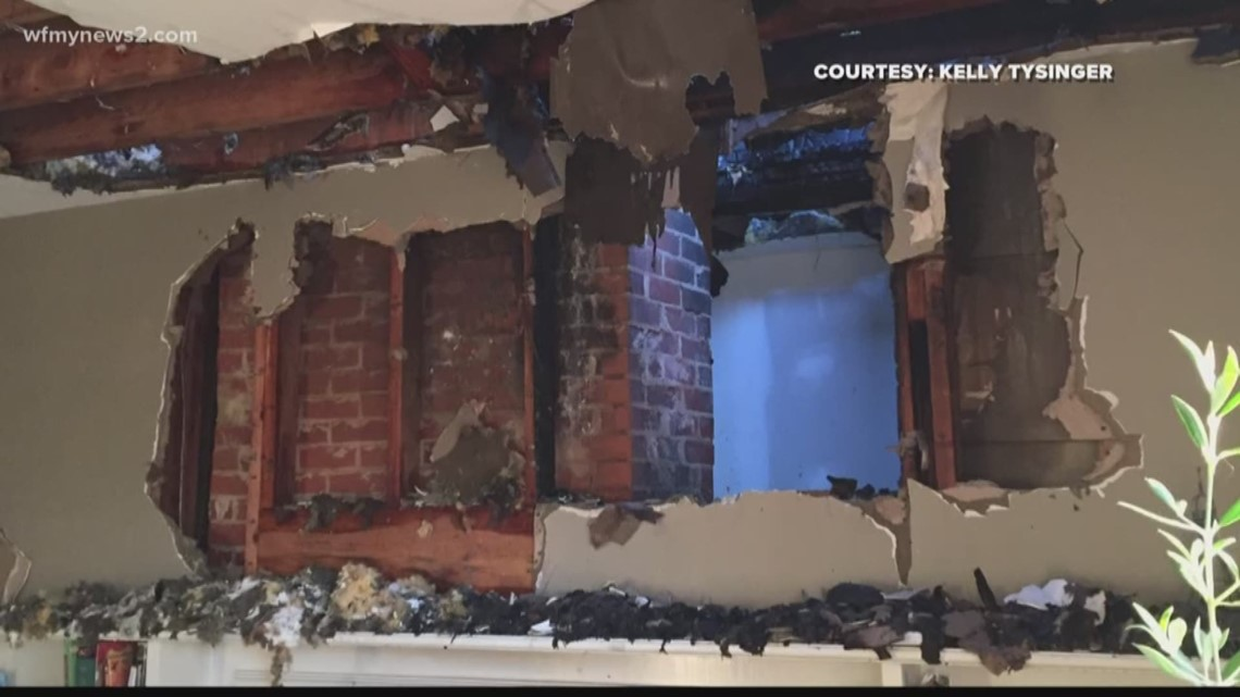 Summerfield family loses Christmas gifts after house damaged in chimney fire
