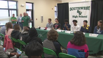 Six SW Guilford Athletes Sign National Letters Of Intent