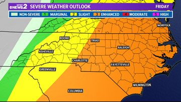 TIMELINE | When Will Severe Storms Move Into The Piedmont Triad?