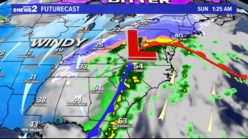 Rain, Wind, and Cold Hitting the Triad this Weekend