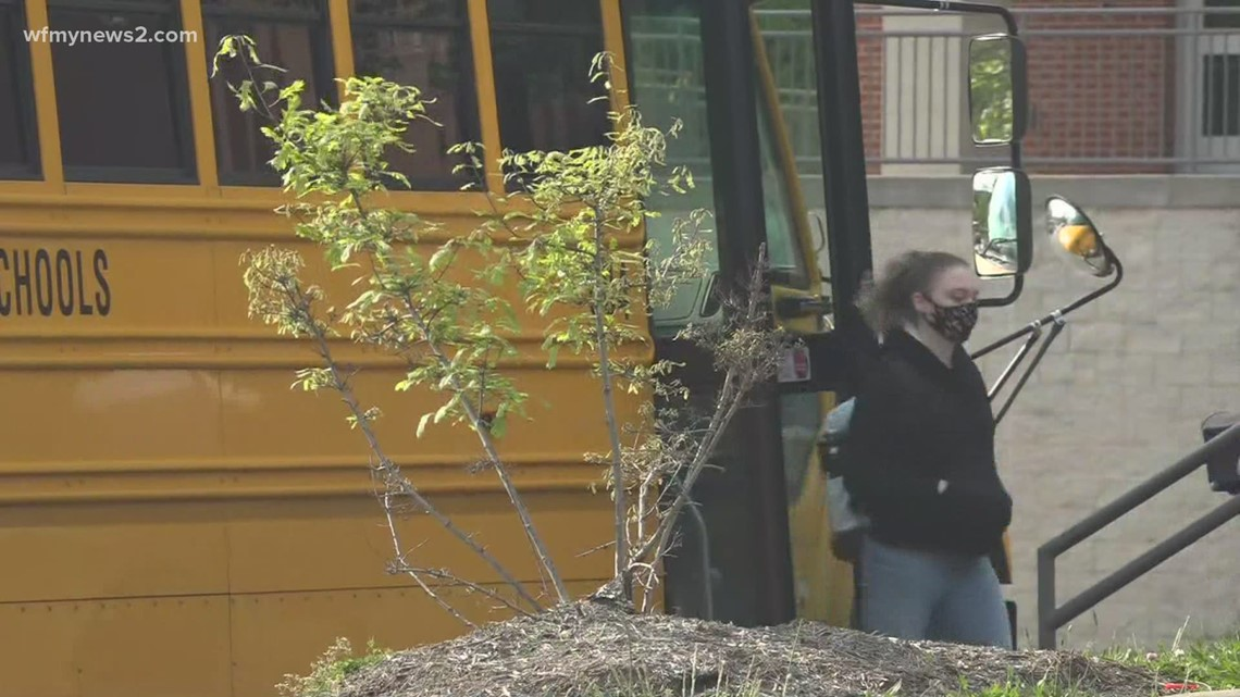 Guilford County middle and high school students return to the classroom five days a week