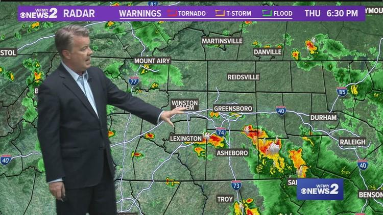 Eric Chilton's Thursday evening weather forecast