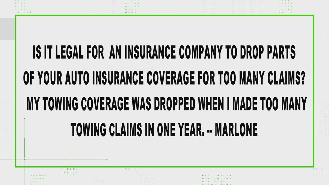 Is it legal for companies to drop towing coverage?