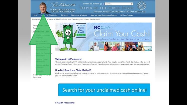 NCCash.com site screenshot