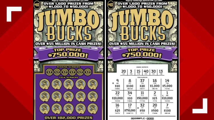 Asheboro Woman Wins 'Jumbo' Size NC Lottery Scratch-Off Game Jackpot
