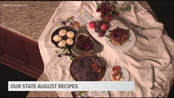 North Carolina Inspired Desserts featuring Peaches, Plums, and Cherries