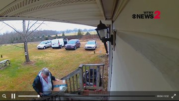 USPS employee carefully wraps and places package on doorstep moments after FedEx employee threw one, homeowner says
