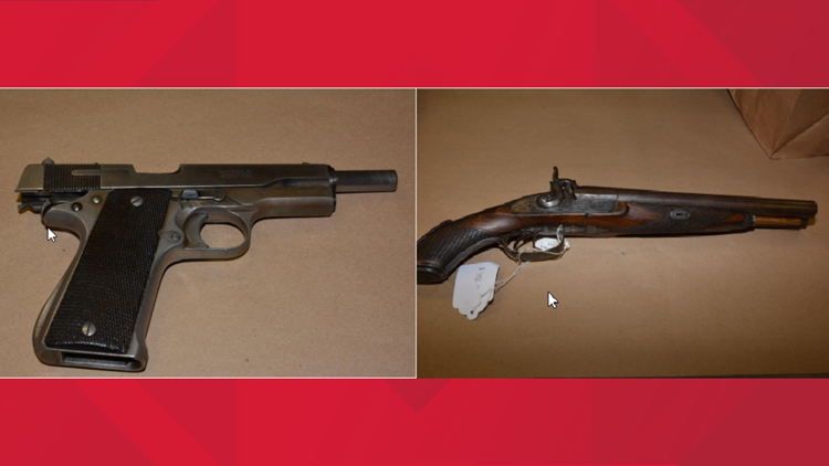Guns confiscated from HPU student