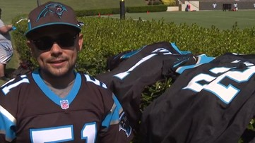 'I Love My Team.' | Panthers' Fan Travels Hundreds of Miles to See Training Camp, Attend Fan Fest