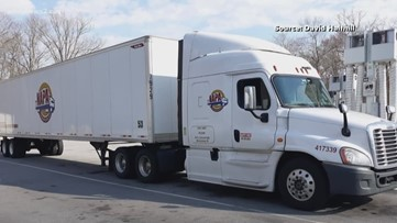 Truck driver shares just how busy grocery store deliveries have been since coronavirus pandemic