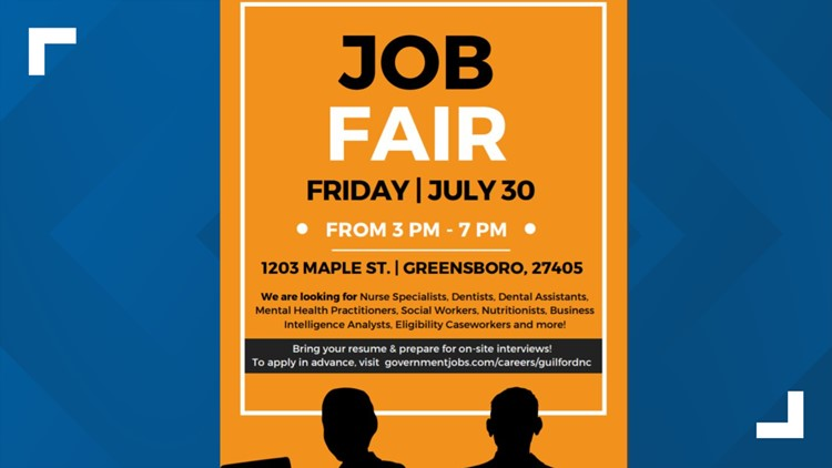 Guilford County DHHS hosts their largest job fair, on-site interviews