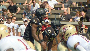 Jamie Newman's 5 TD Passes Leads Wake Forest Past Elon 49-7