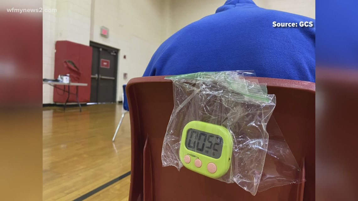 Guilford County Schools hold COVID-19 vaccination clinic at Andrews High School