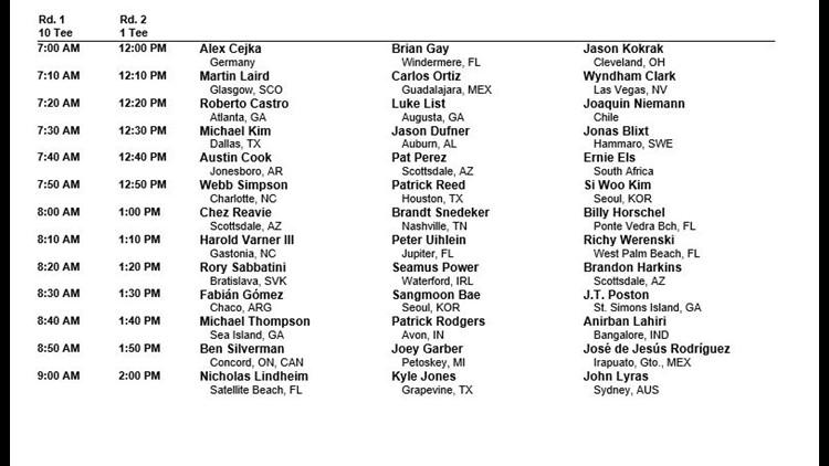 Wyndham Championship Pairings