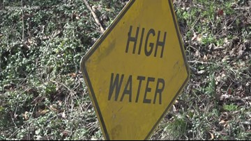 Several Guilford County roads underwater due to flooding