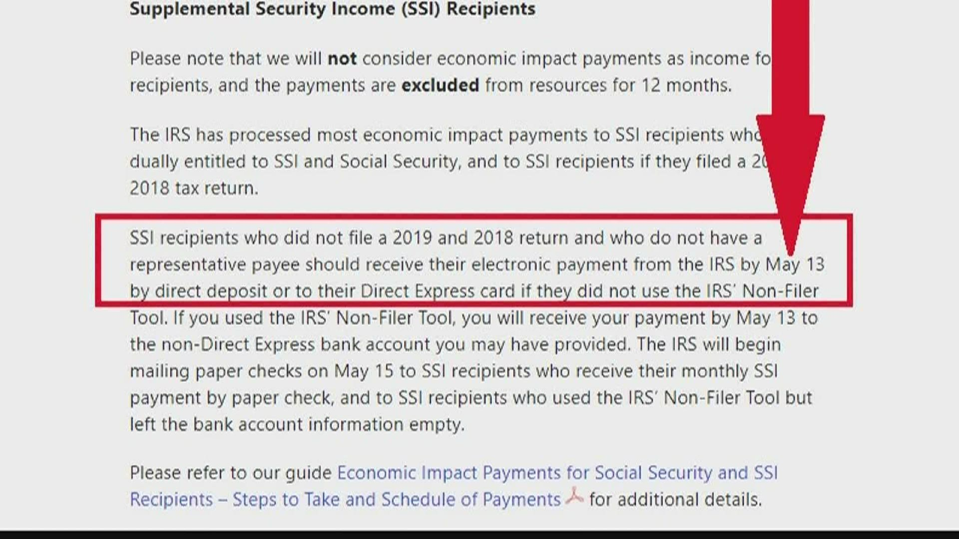 Ssi Stimulus Payments Coming May 13 Wfmynews2 Com