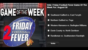 VOTE NOW | Friday Football Fever Game Of The Week For August 30